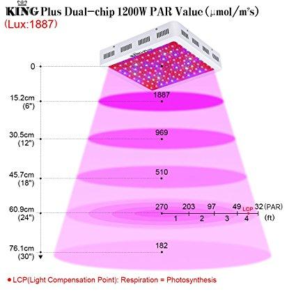 King 1000w LED grow light