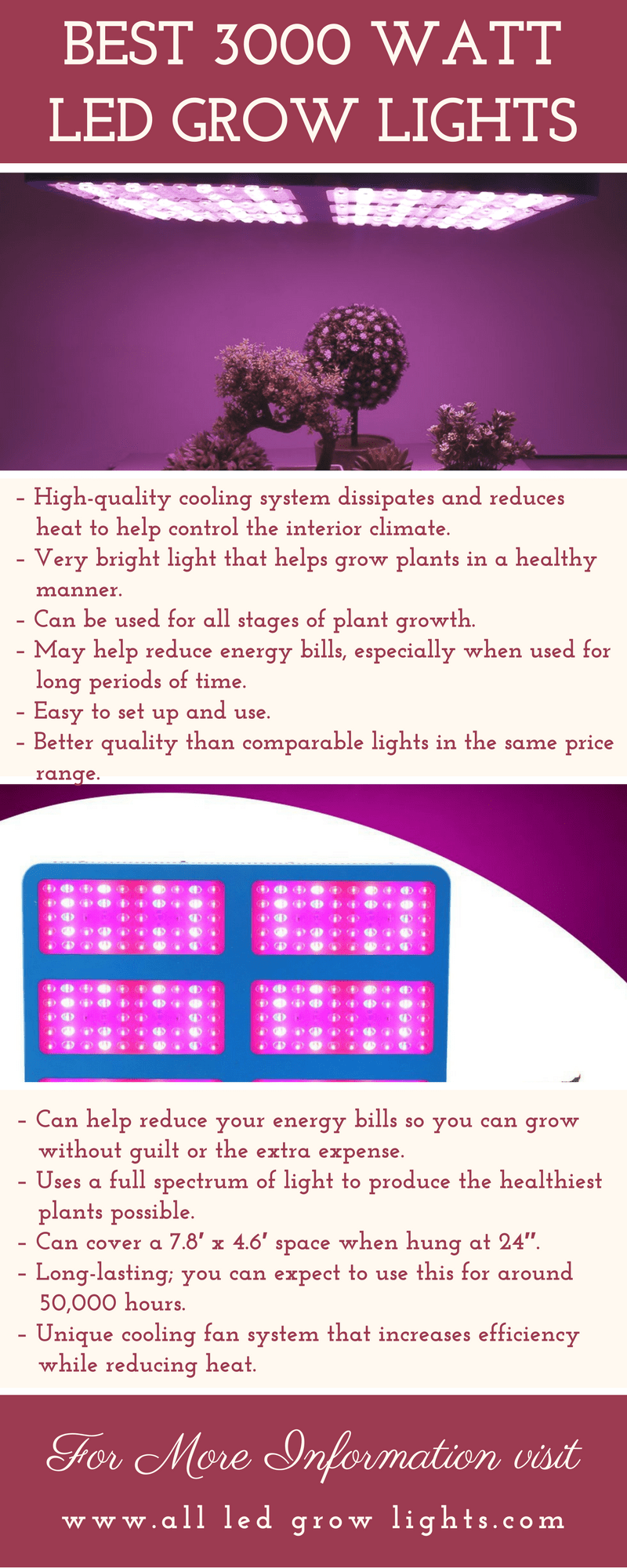 best 3000w led grow light infograph