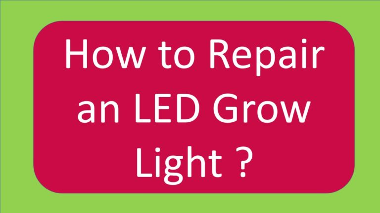How to repair led grow lights