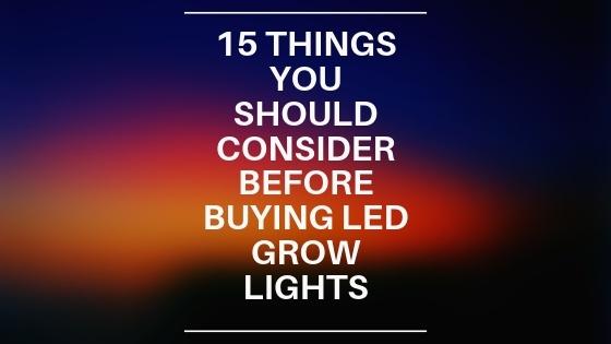 Buying LED Grow Lights